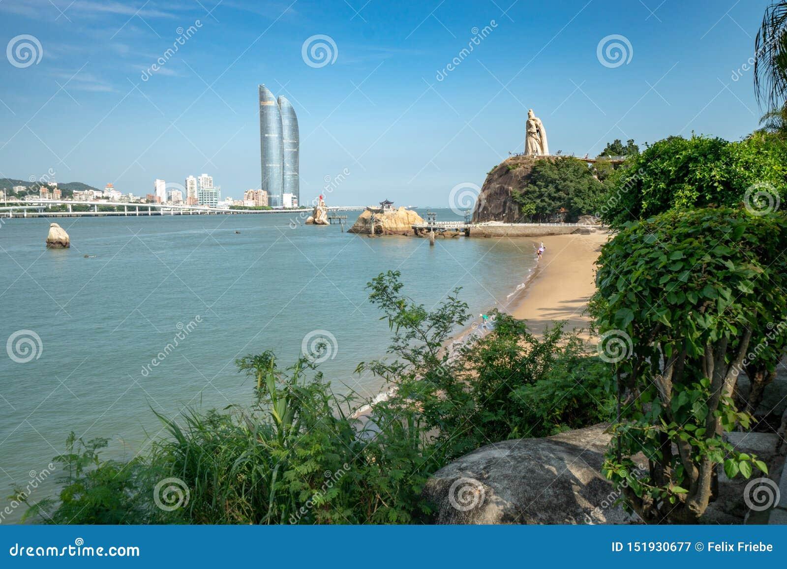 Vue de Xiamen d île de Gulangyu