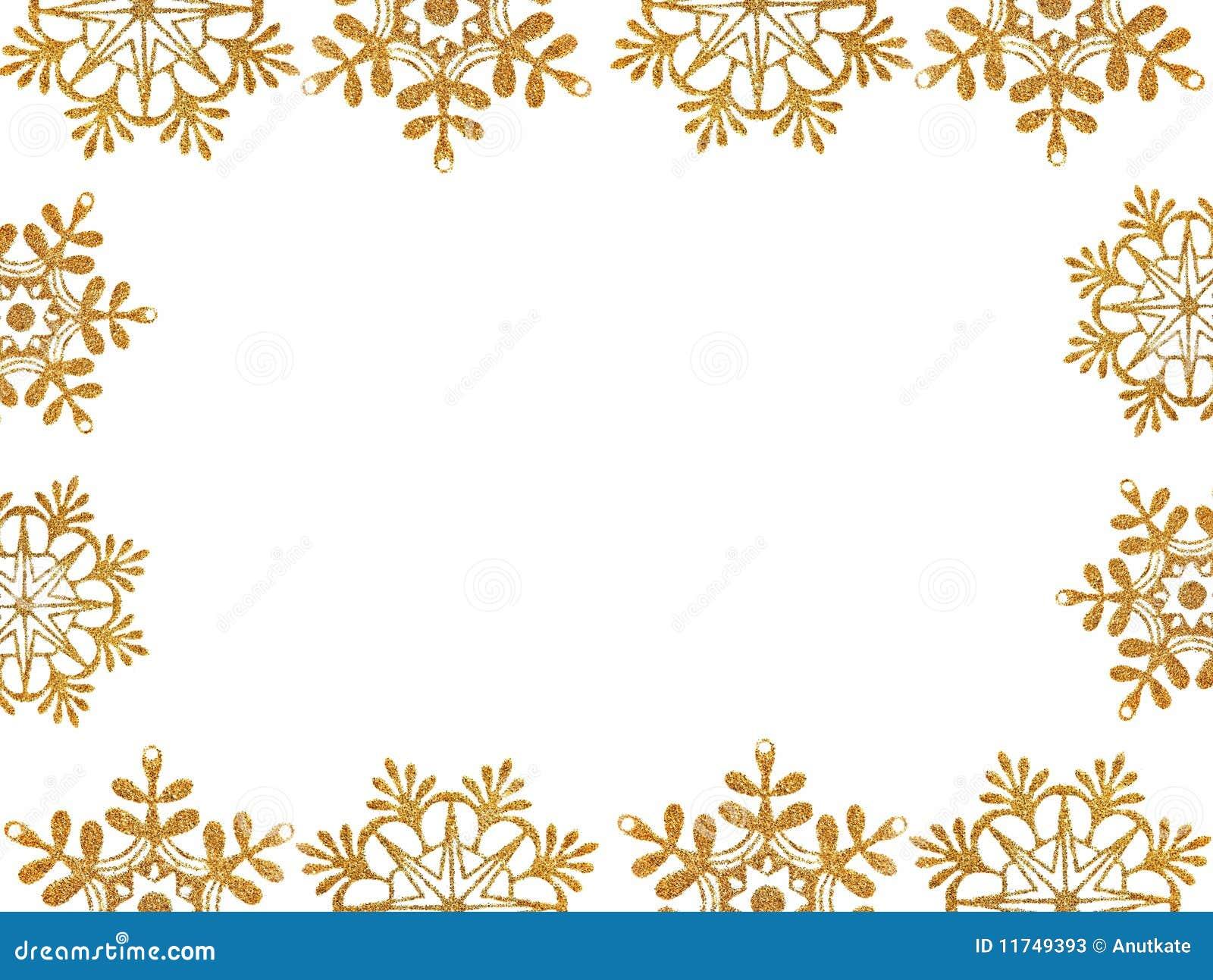 Vue des étoiles de neige d or
