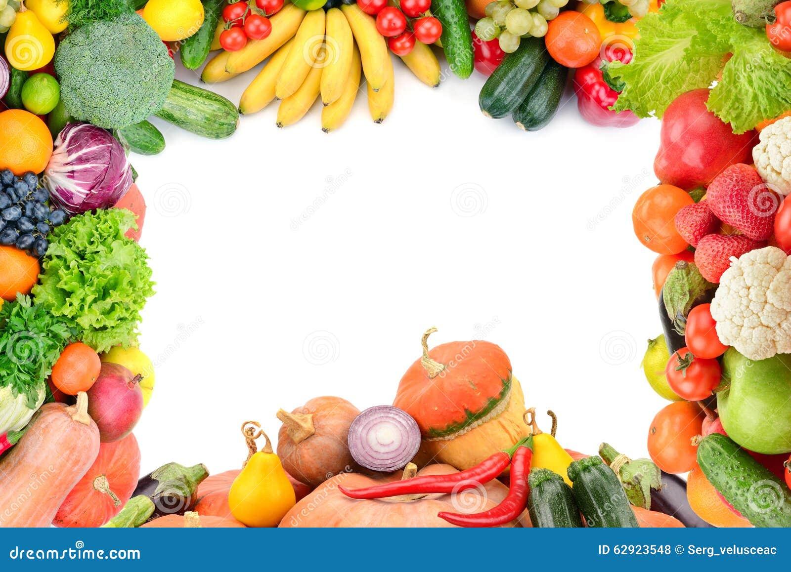 Vue des l gumes et des fruits photo stock image du for Clipart frutta