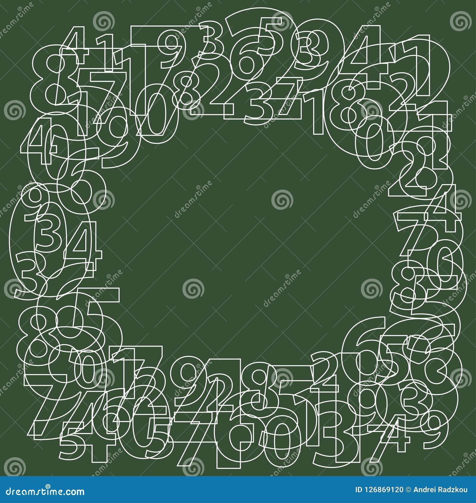 Vue des nombres sur le vert Générateur à nombre aléatoire