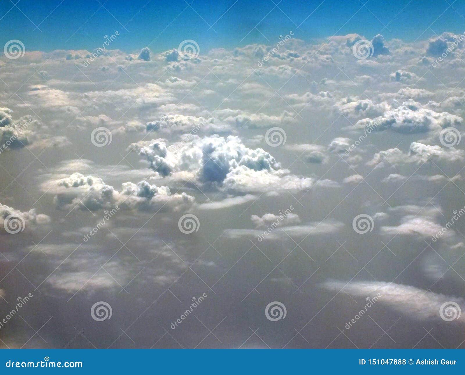 Vue des nuages de au-dessus des nuages