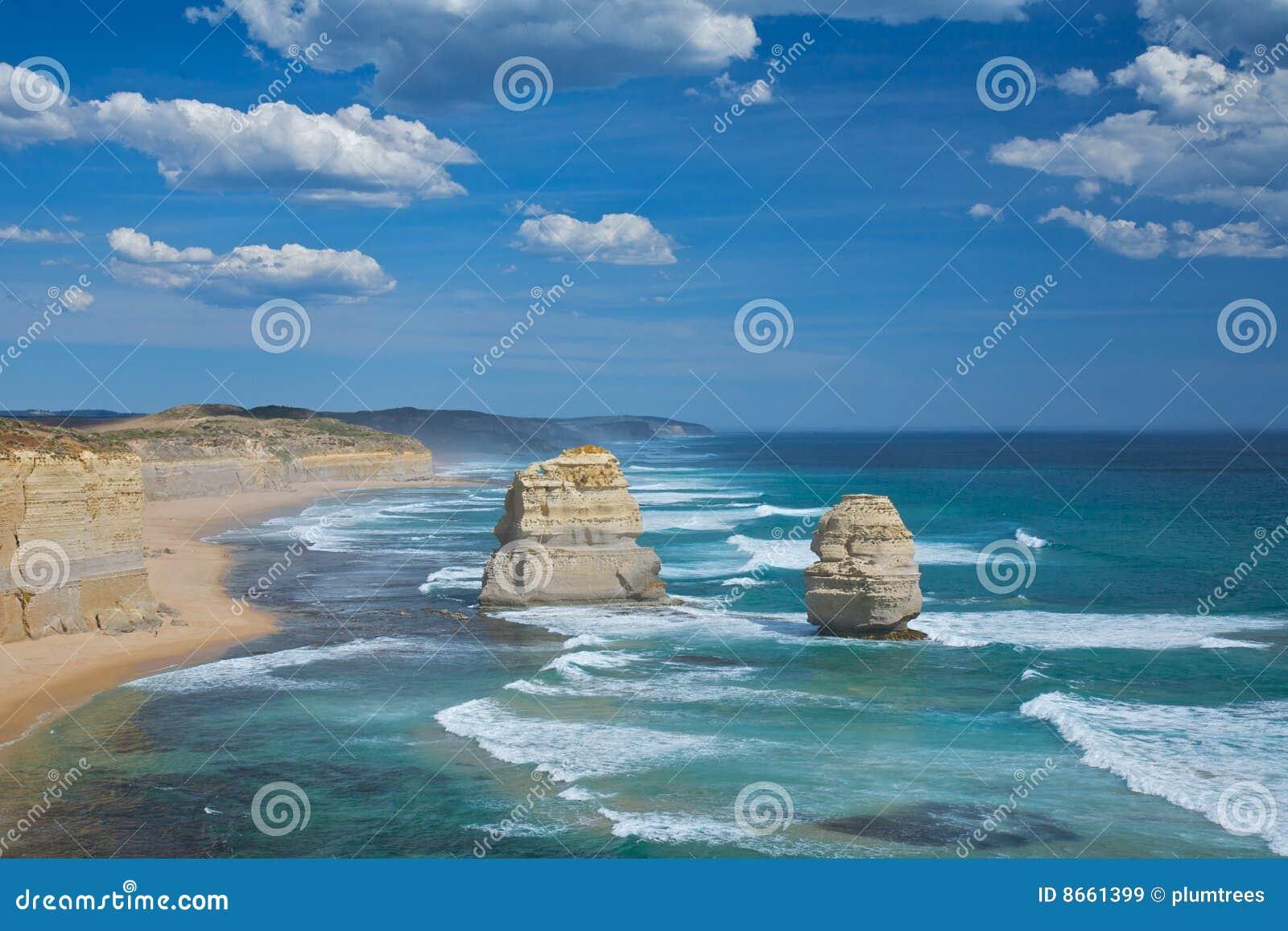 Vue douze scénique de route grande d océan d apôtres
