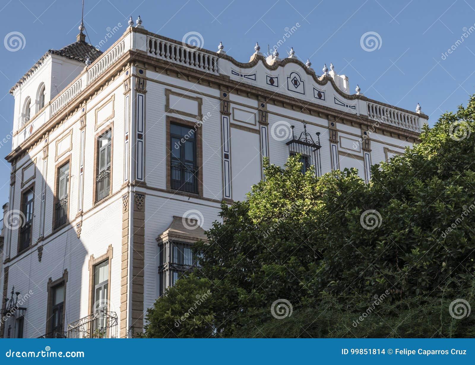 Vue du bâtiment du consulat général des Frances en Séville, placé dans Santa Cruz carrée, l Andalousie, Espagne