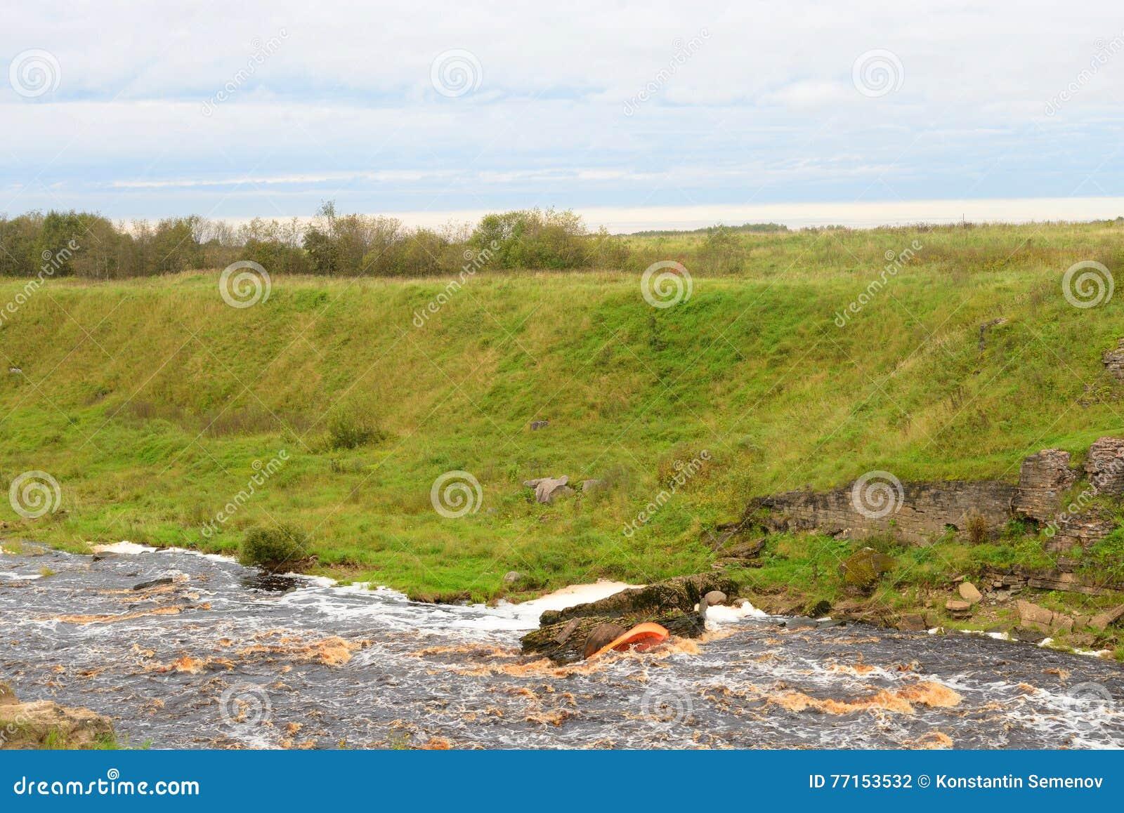 Vue du fleuve Tosna