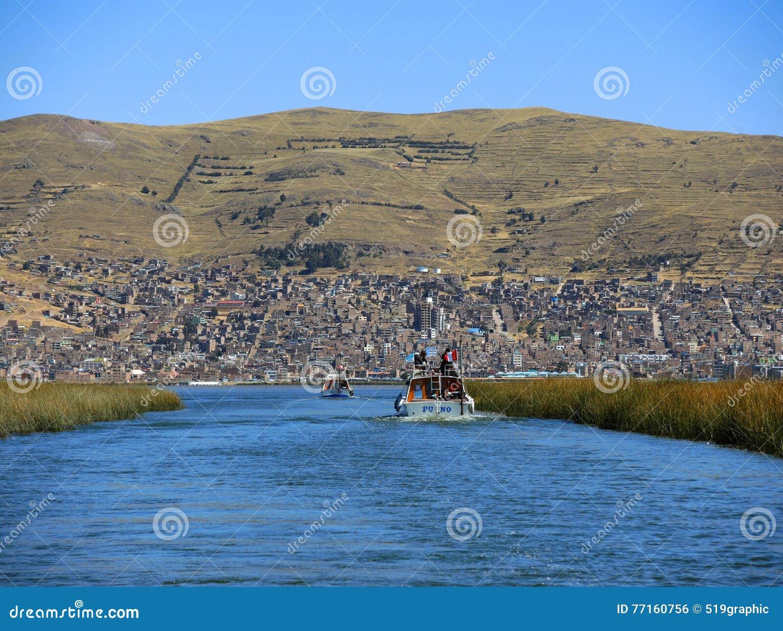 Vue du lac Tititaca, Puno, Pérou