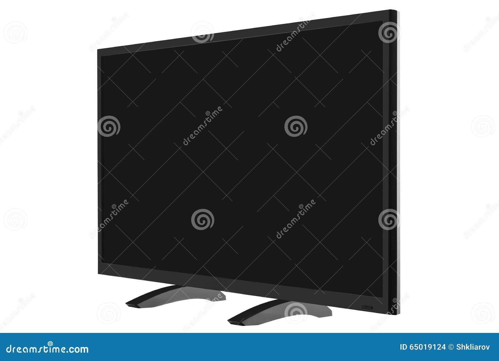 Vue Du Moniteur En Format Large De L Internet Tv D Isolement Sur Le