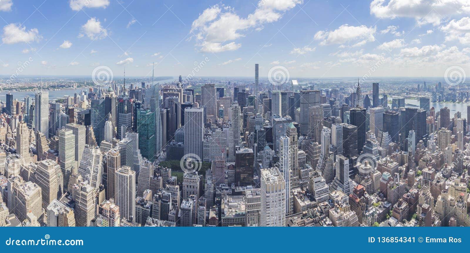 Vue du nord de panorama de l Empire State Building avec Midtown Manhattan et Central Park, New York, Etats-Unis