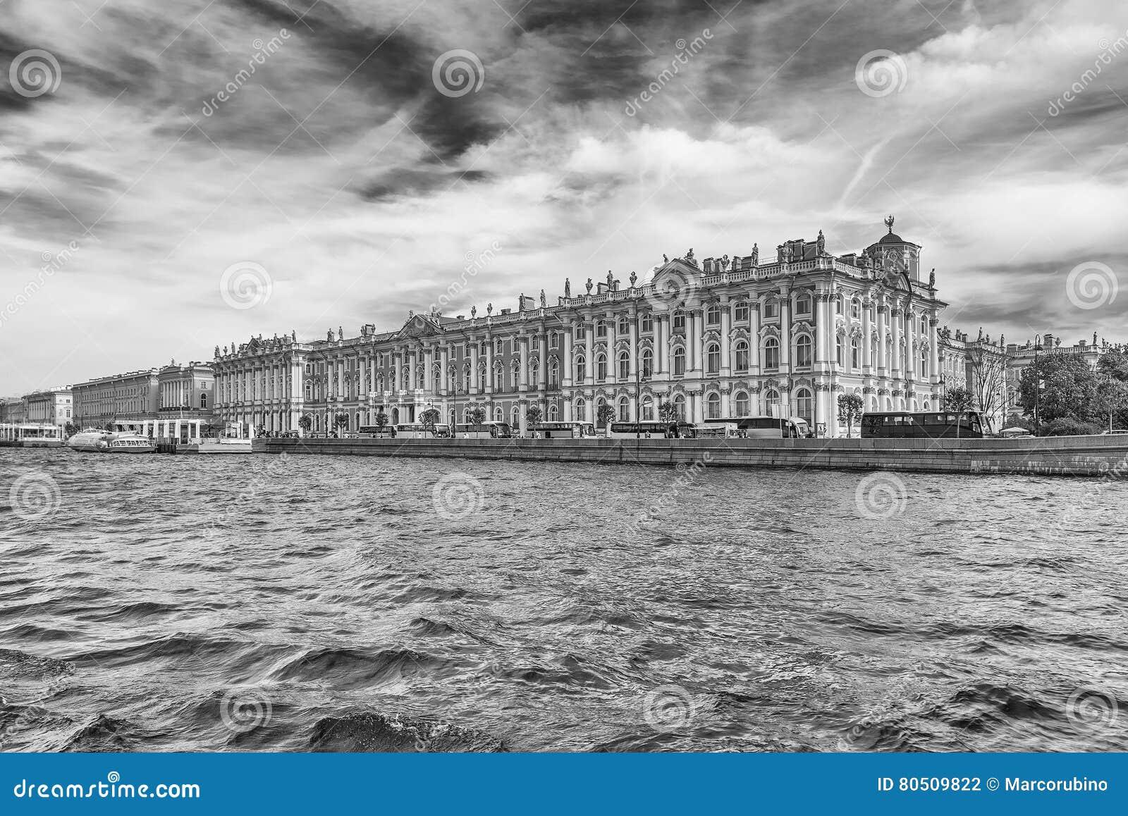 Vue du palais d hiver, musée d ermitage, St Petersburg, Rus