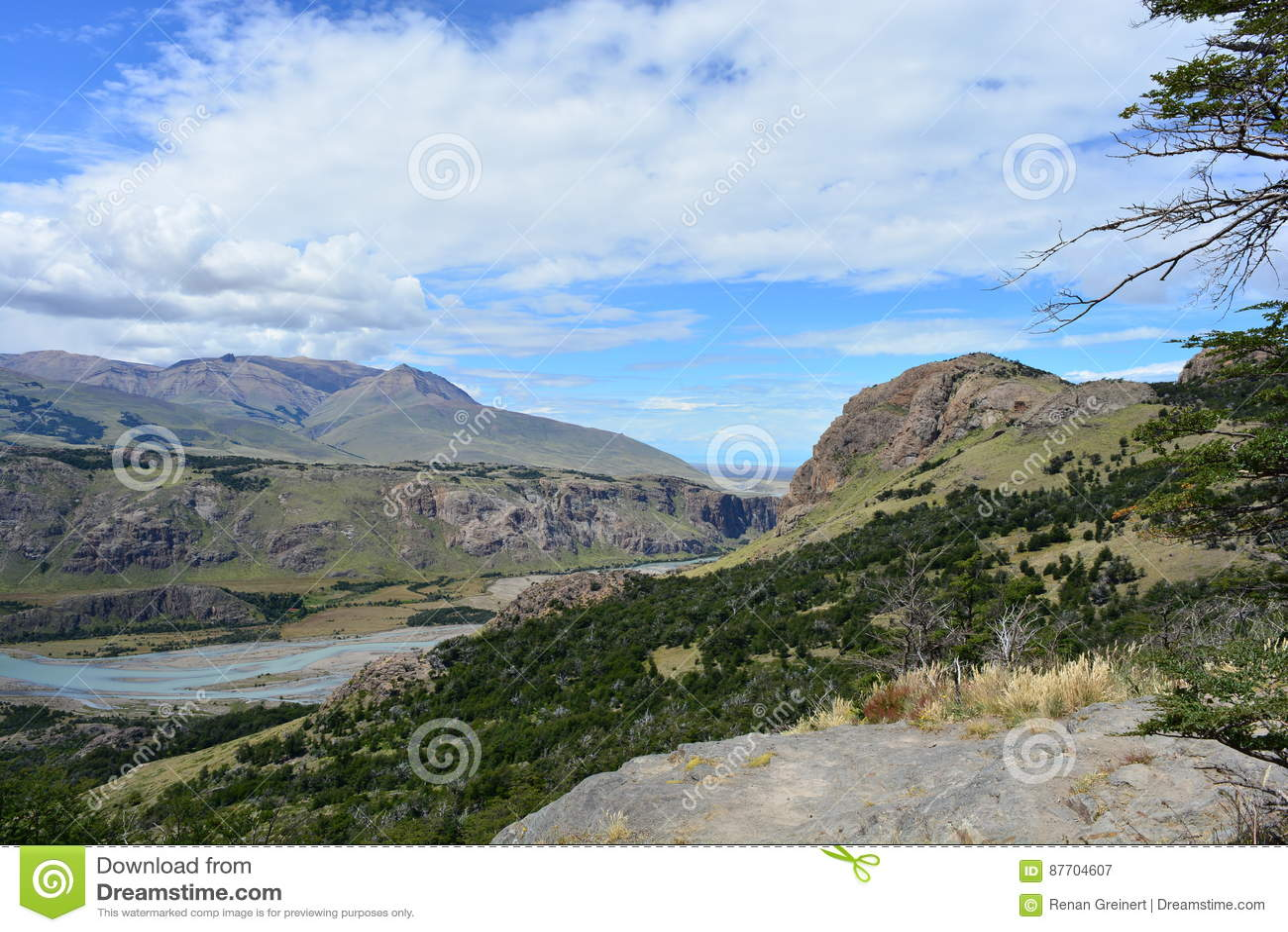Vue du parc national de visibilité directe Glaciares, EL Chaltén, Argentine