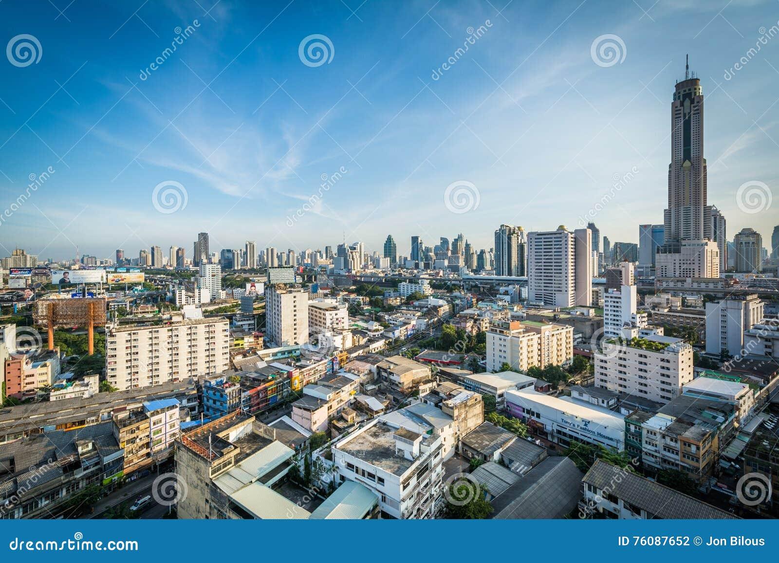Vue du secteur de Ratchathewi, à Bangkok, la Thaïlande