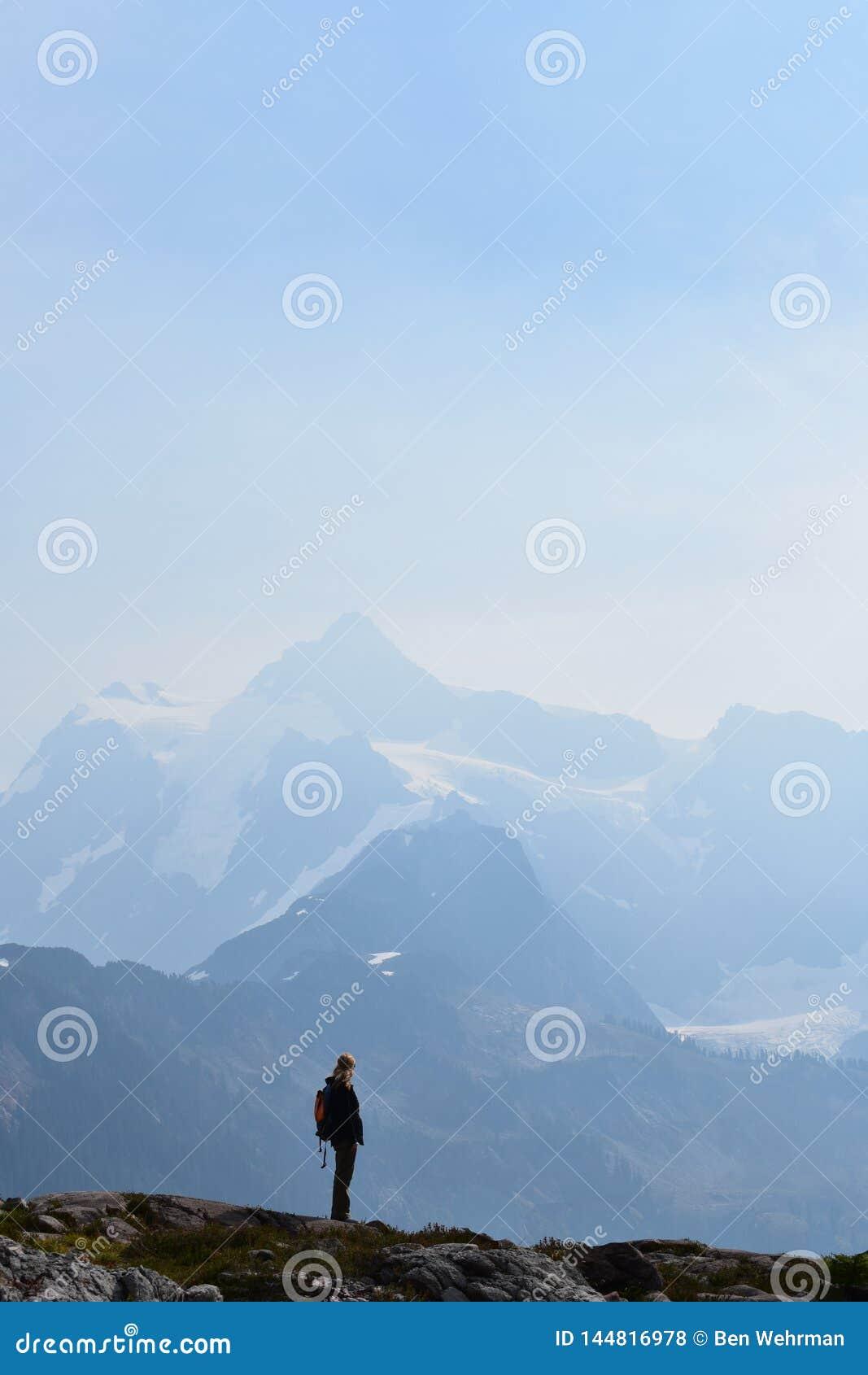Vue du sommet de montagne