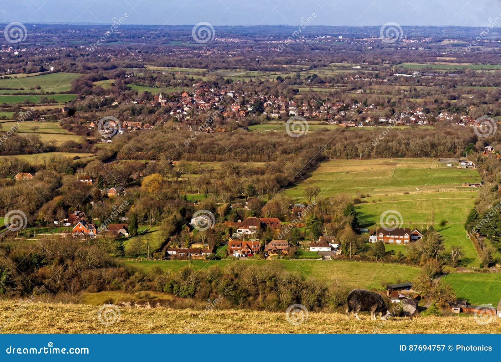 Vue du Sussex Weald des bas