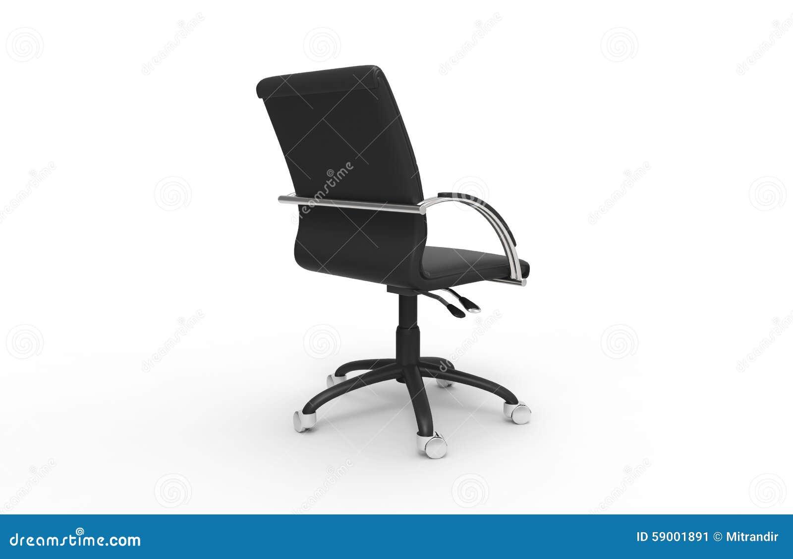 Vue De En Cuir Illustration Stock Dos Chaise Bureau N8n0vwmO