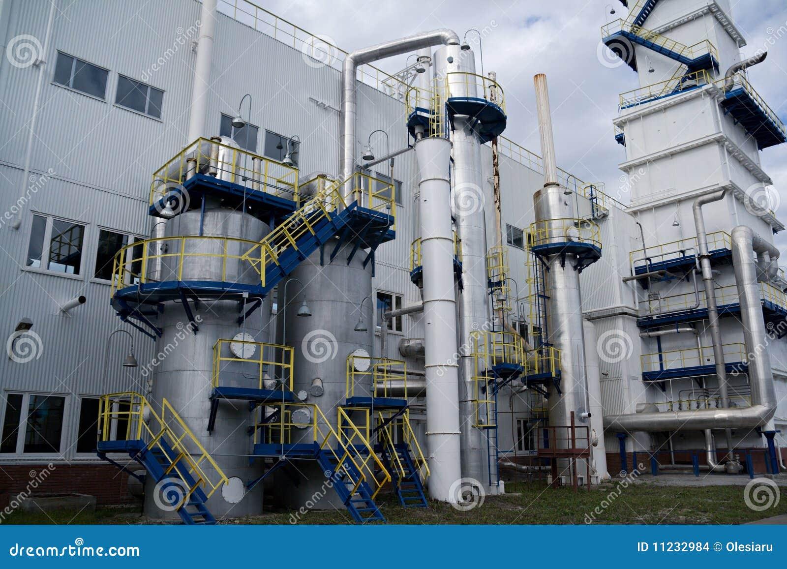 Vue Extérieure De Centrale De Séparation D Air Photo Stock Image