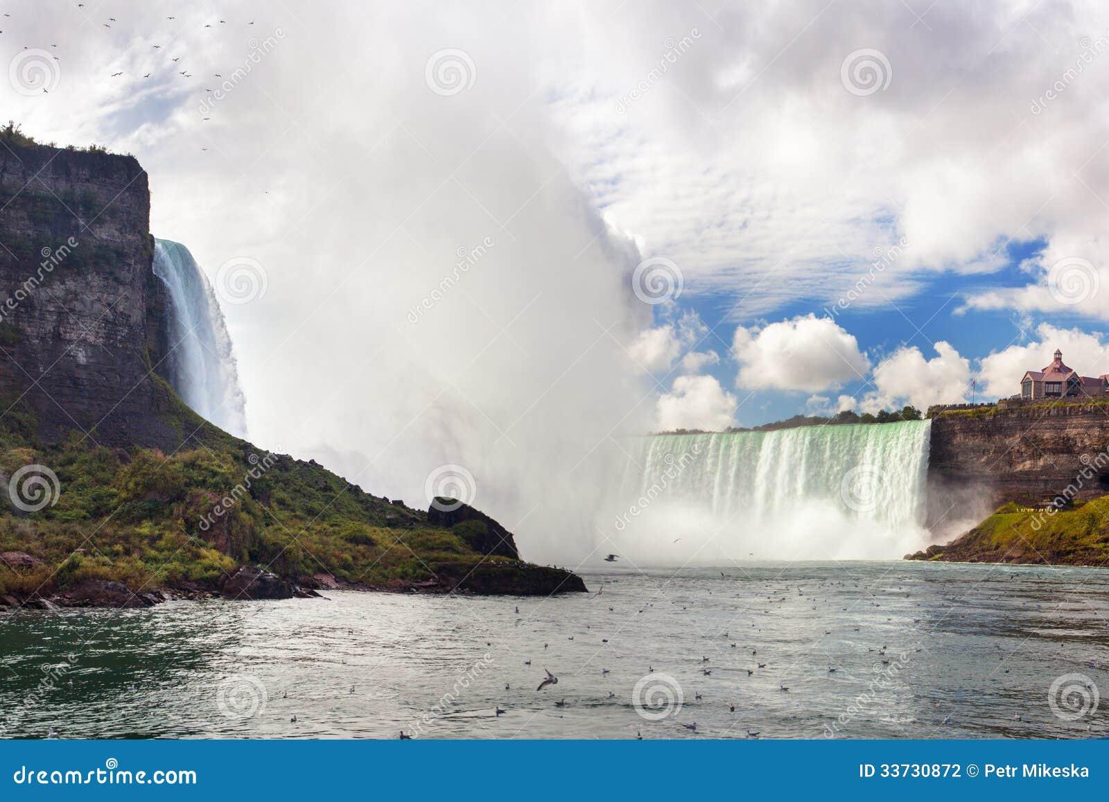 Vue gentille des chutes du Niagara