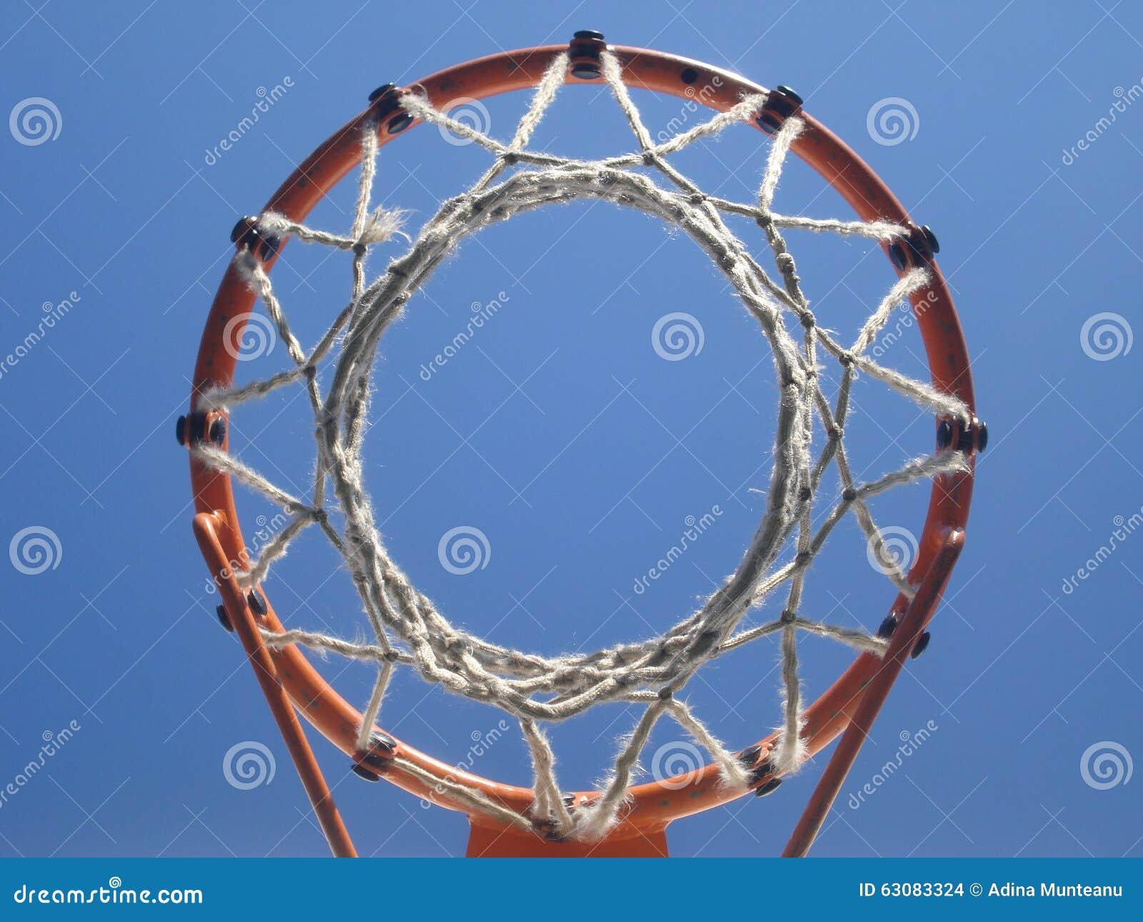 Download Vue Inférieure De Cercle De Basket-ball Amateur Photo stock - Image du string, filet: 63083324