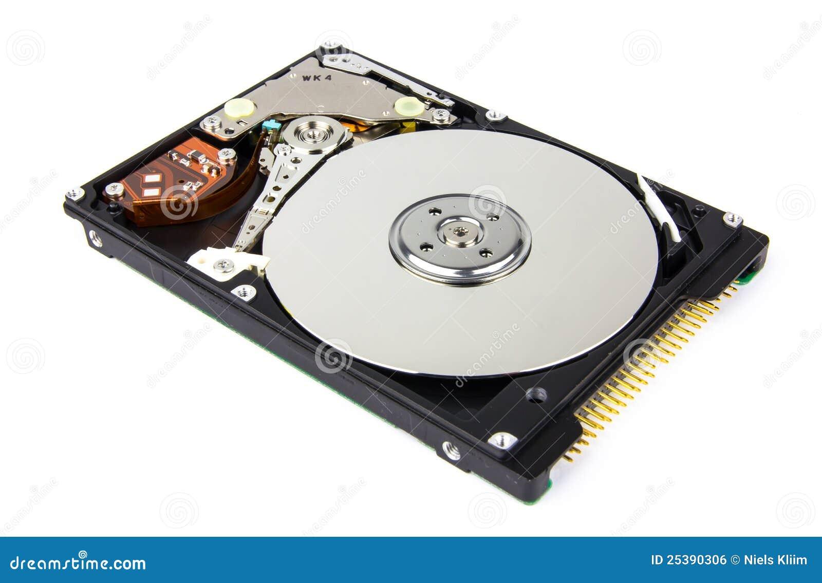 vue int rieure d 39 un disque dur photo stock image du medias dispositif 25390306. Black Bedroom Furniture Sets. Home Design Ideas