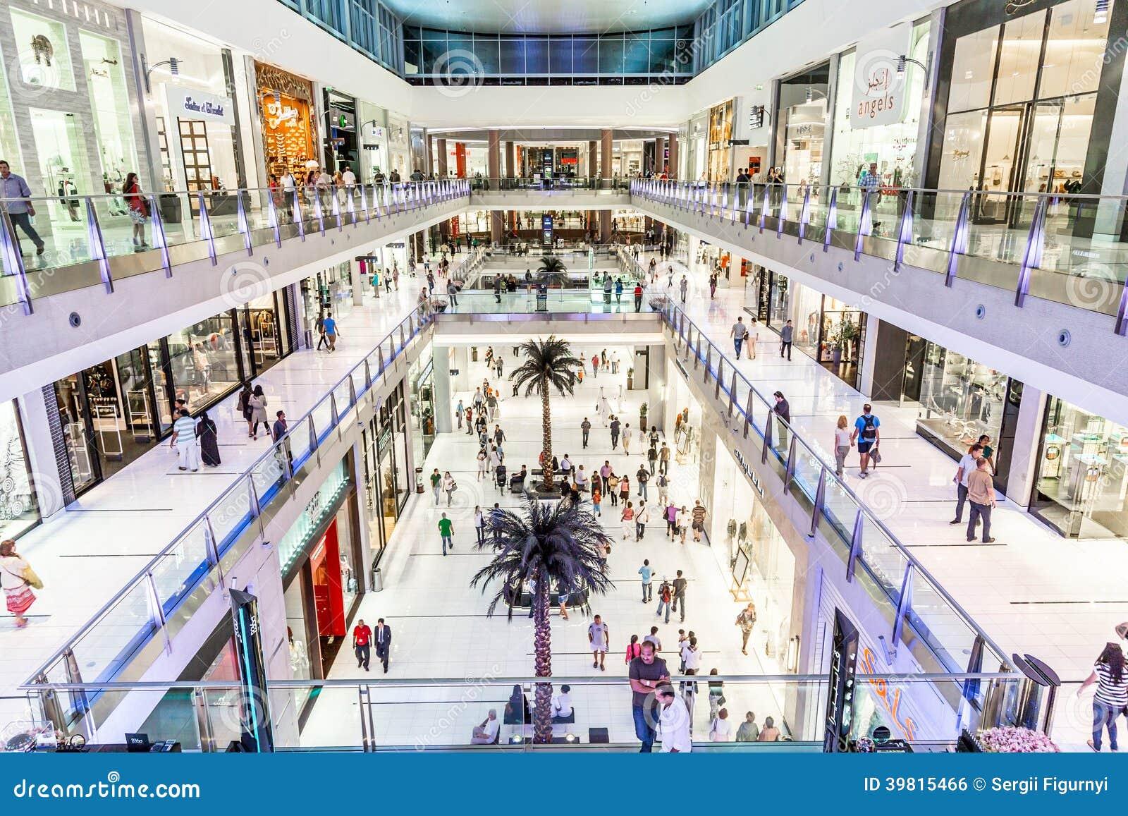 vue int rieure de mail de duba le plus grand centre commercial du monde photo ditorial. Black Bedroom Furniture Sets. Home Design Ideas