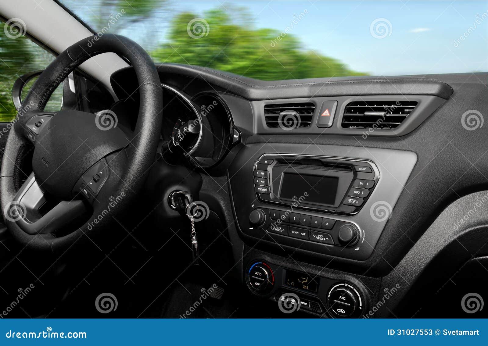 Vue intérieure de voiture