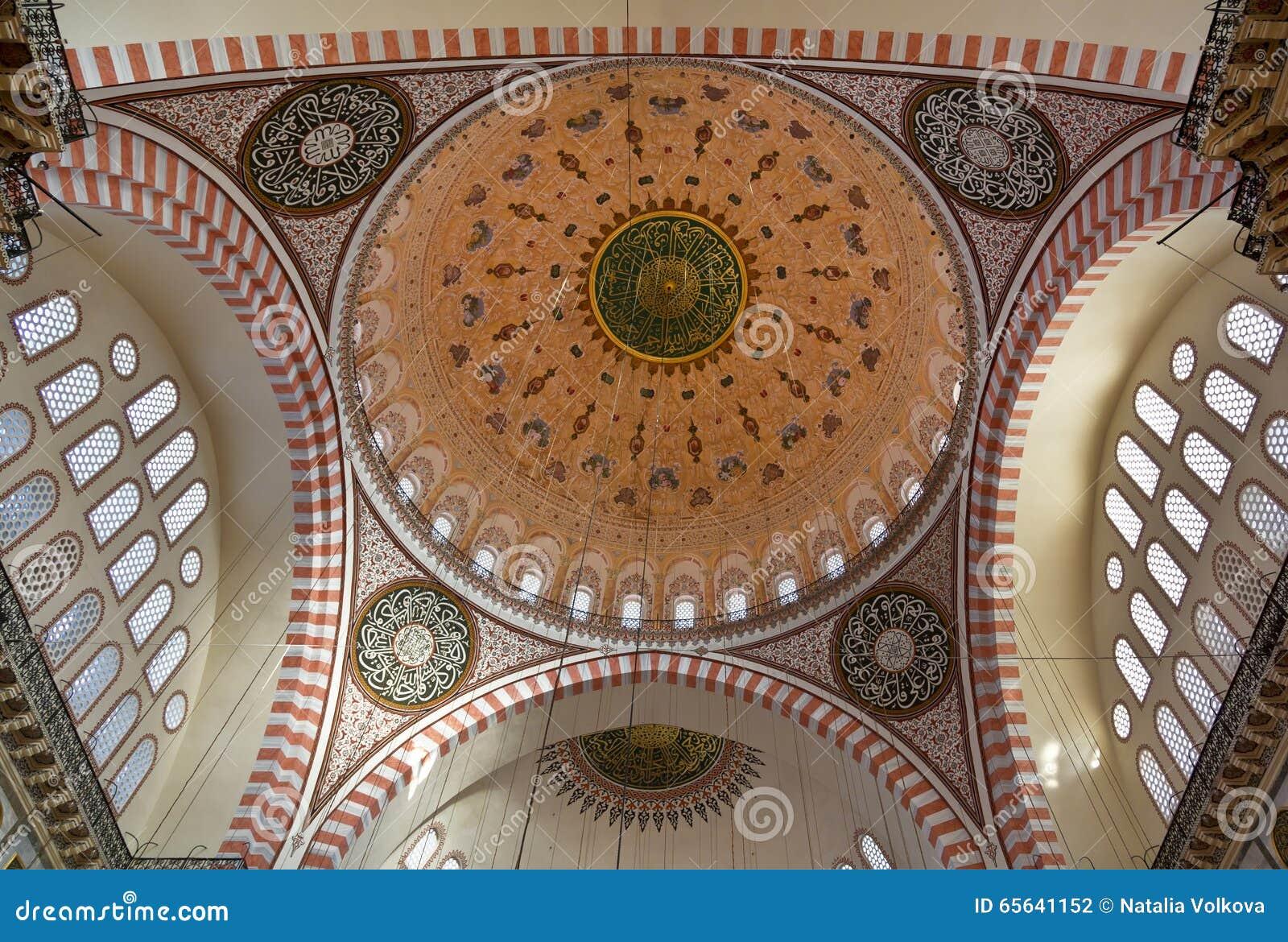 Vue interne de mosquée bleue, Sultanahmet, Istanbul