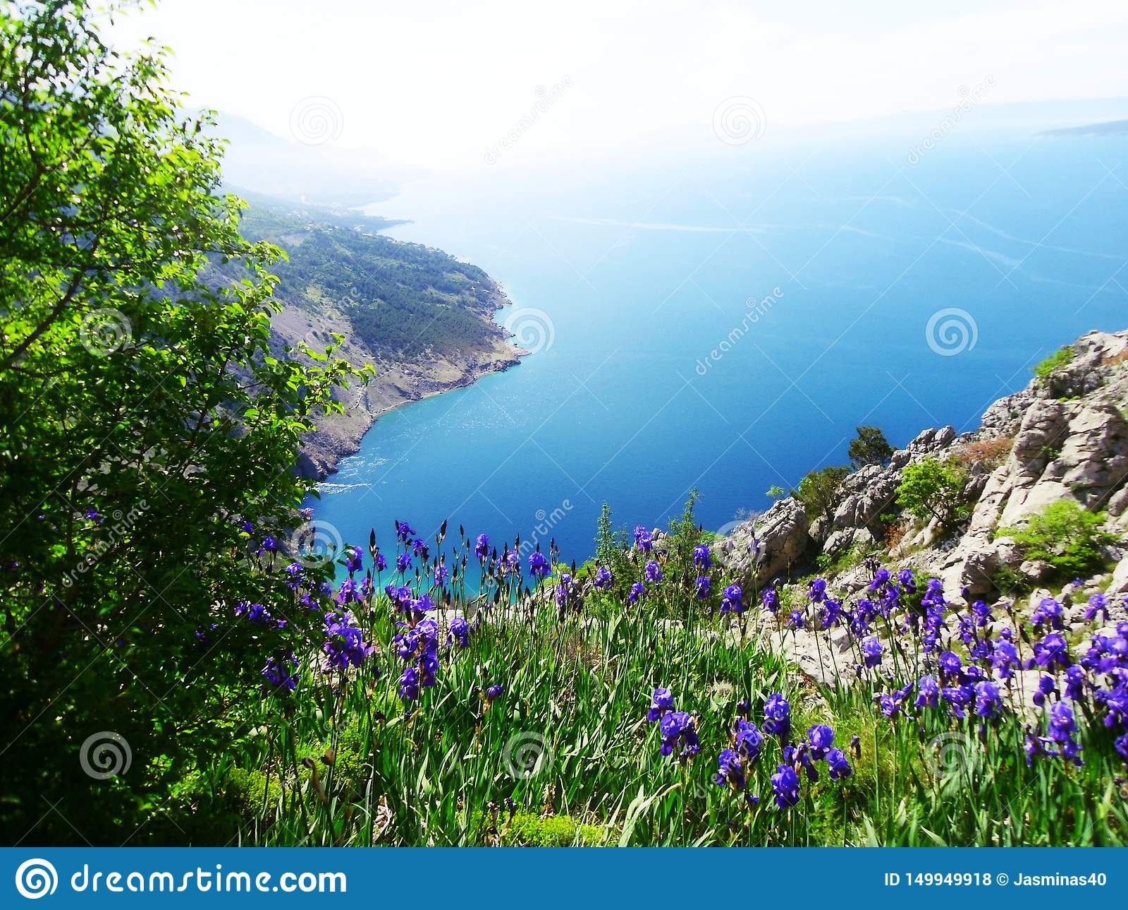 Vue magnifique sur la Mer Adriatique en Dalmatie, région en Croatie, l Europe