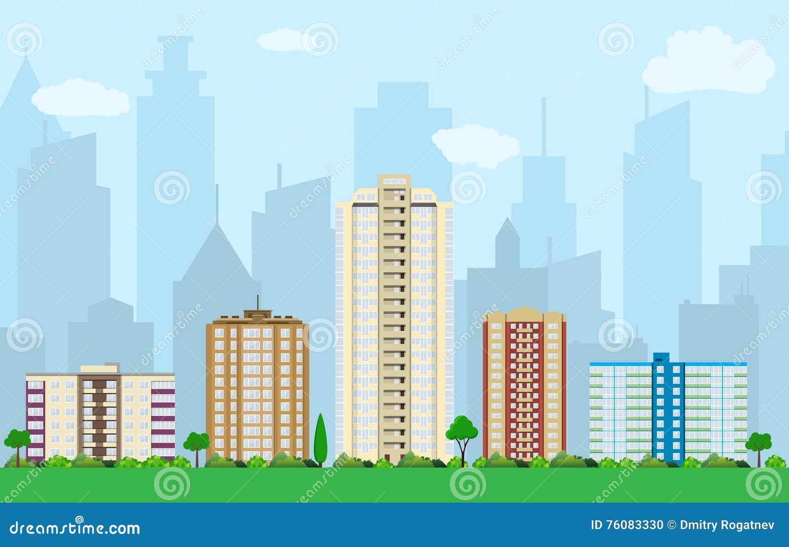 Vue moderne de ville