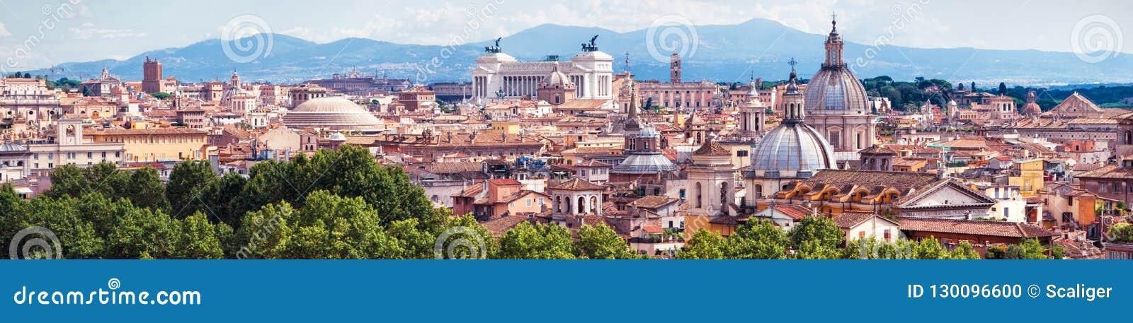 Vue panoramique aérienne de Rome, Italie