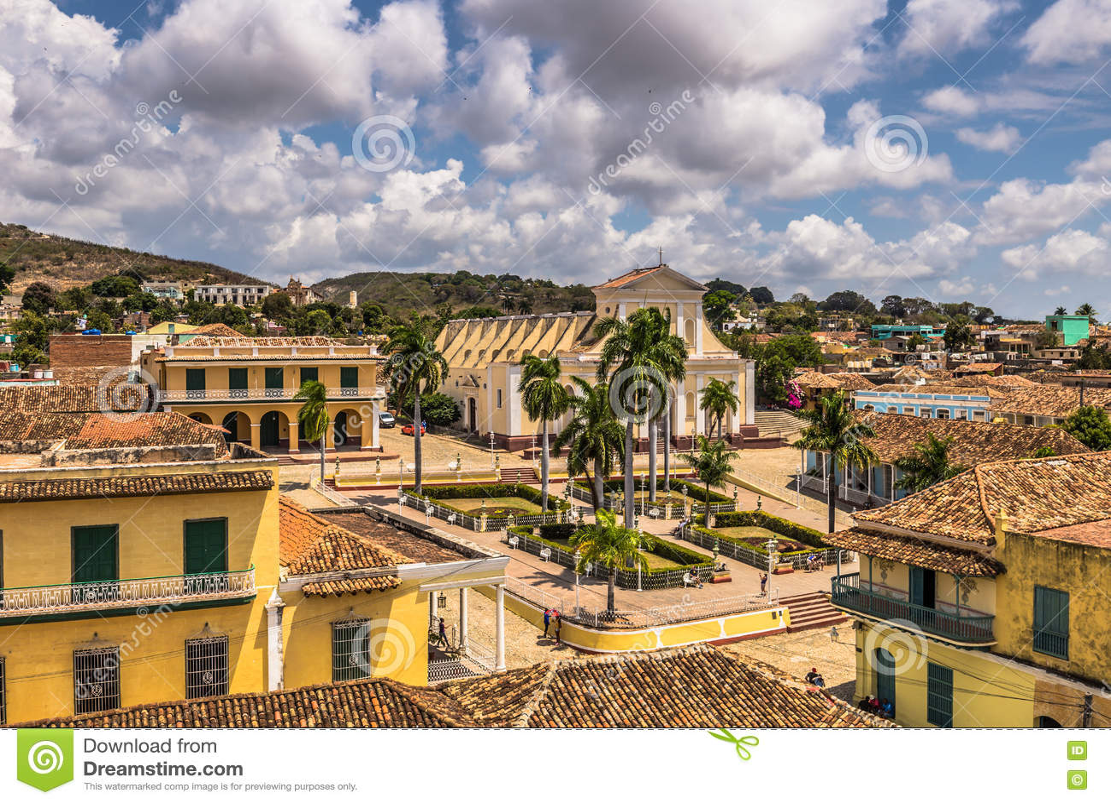 Vue panoramique de maire de plaza au Trinidad, Cuba