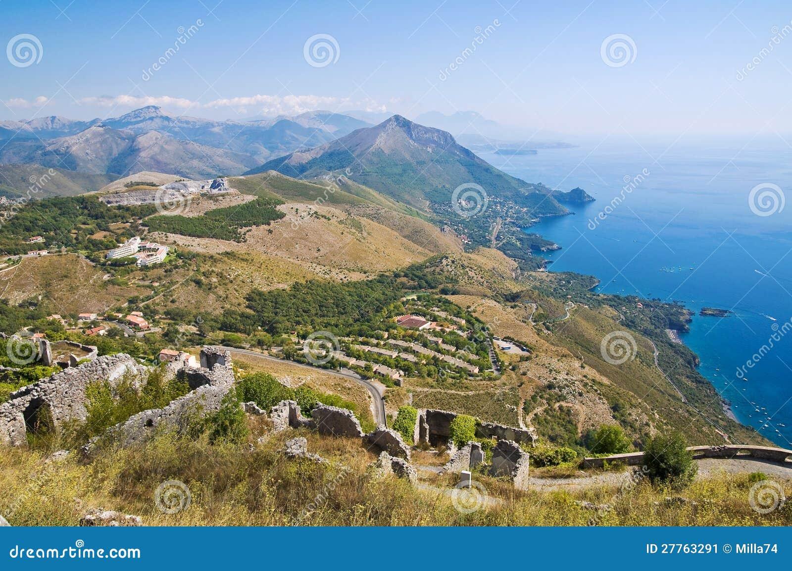 Vue panoramique de Maratea. Basilicate. L Italie.
