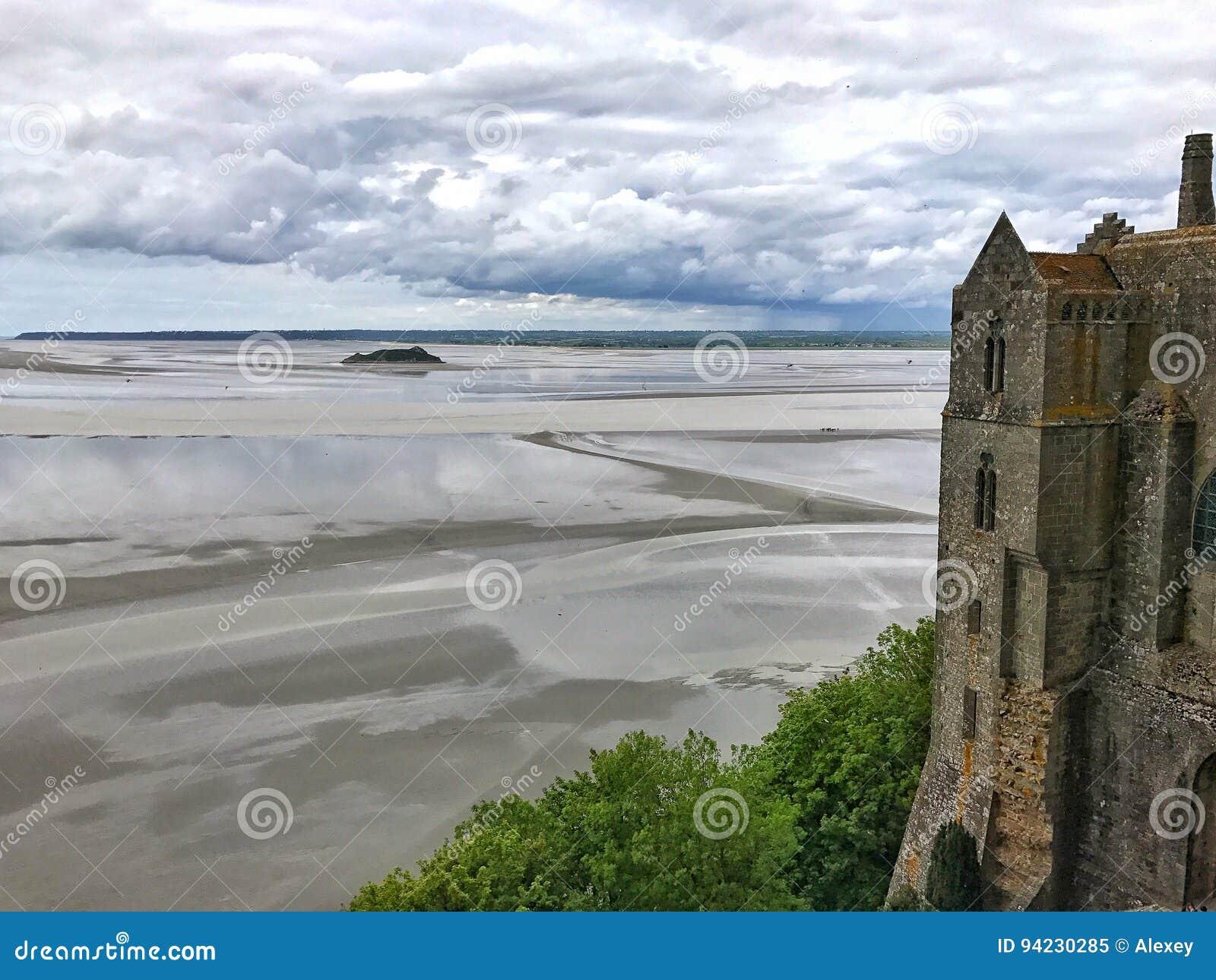 Vue panoramique de Mont Saint Michele, Normandie, France