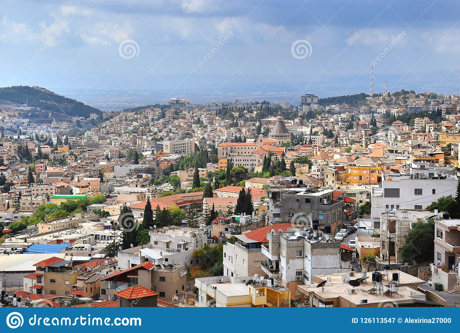 Vue panoramique de Nazareth, au nord de l Israël