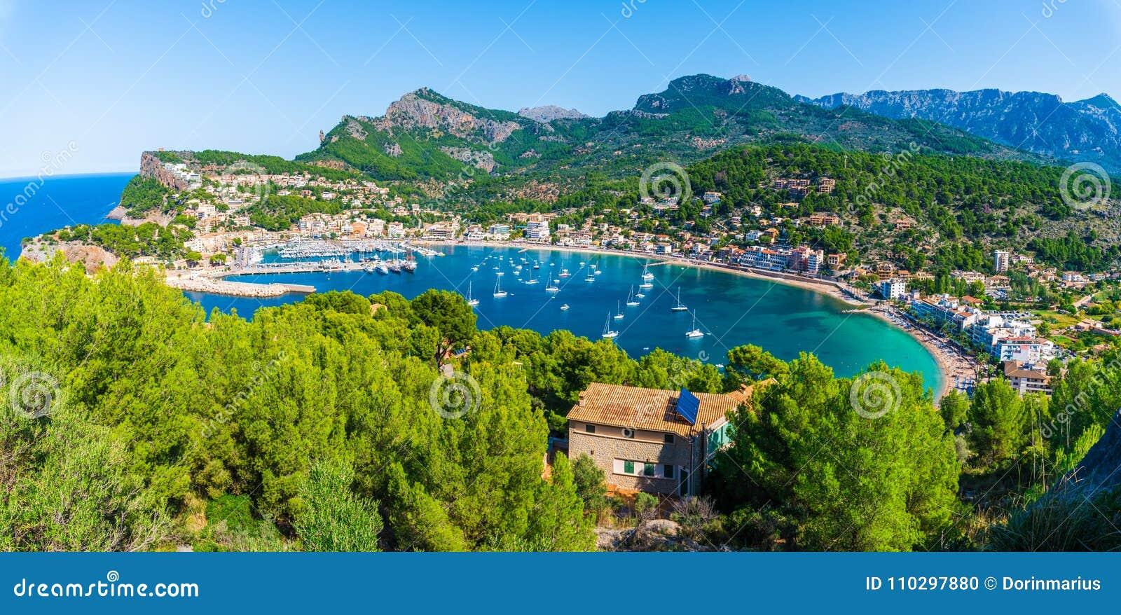 Vue panoramique de Porte de Soller, Palma Mallorca, Espagne