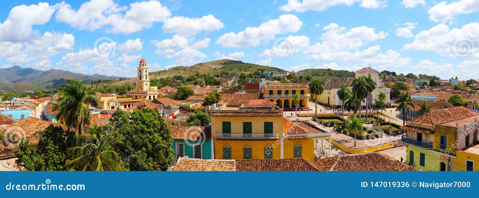 Vue panoramique de vieille ville du Trinidad, Cuba