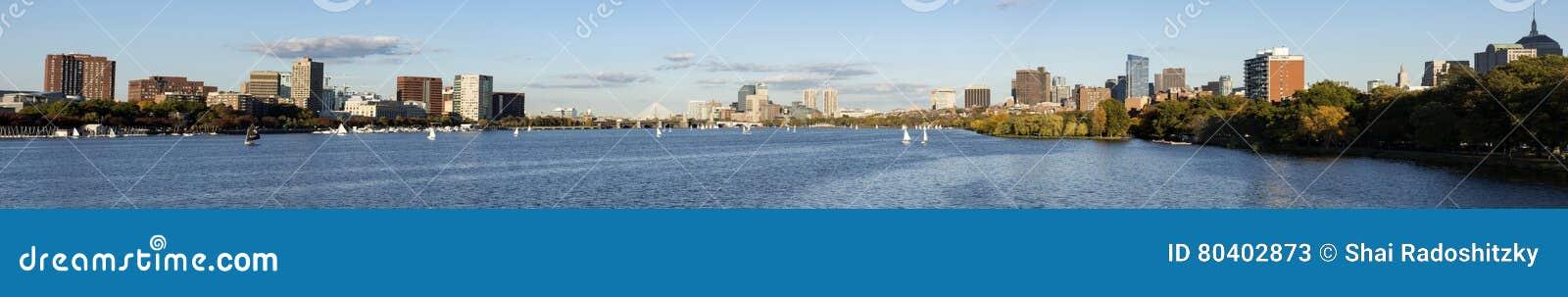 Vue panoramique en Charles River Boston