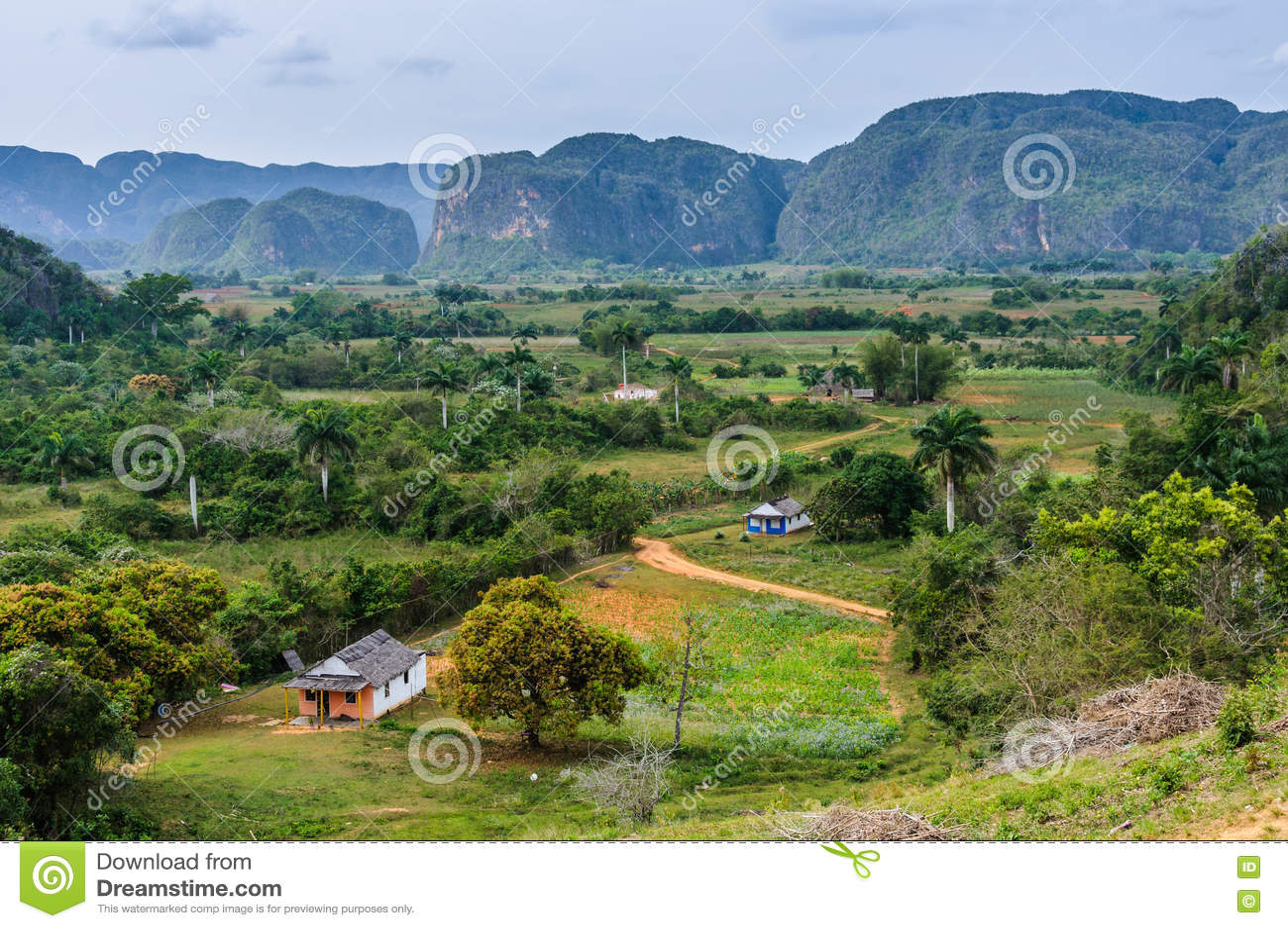 Vue panoramique en vallée de Vinales, Cuba