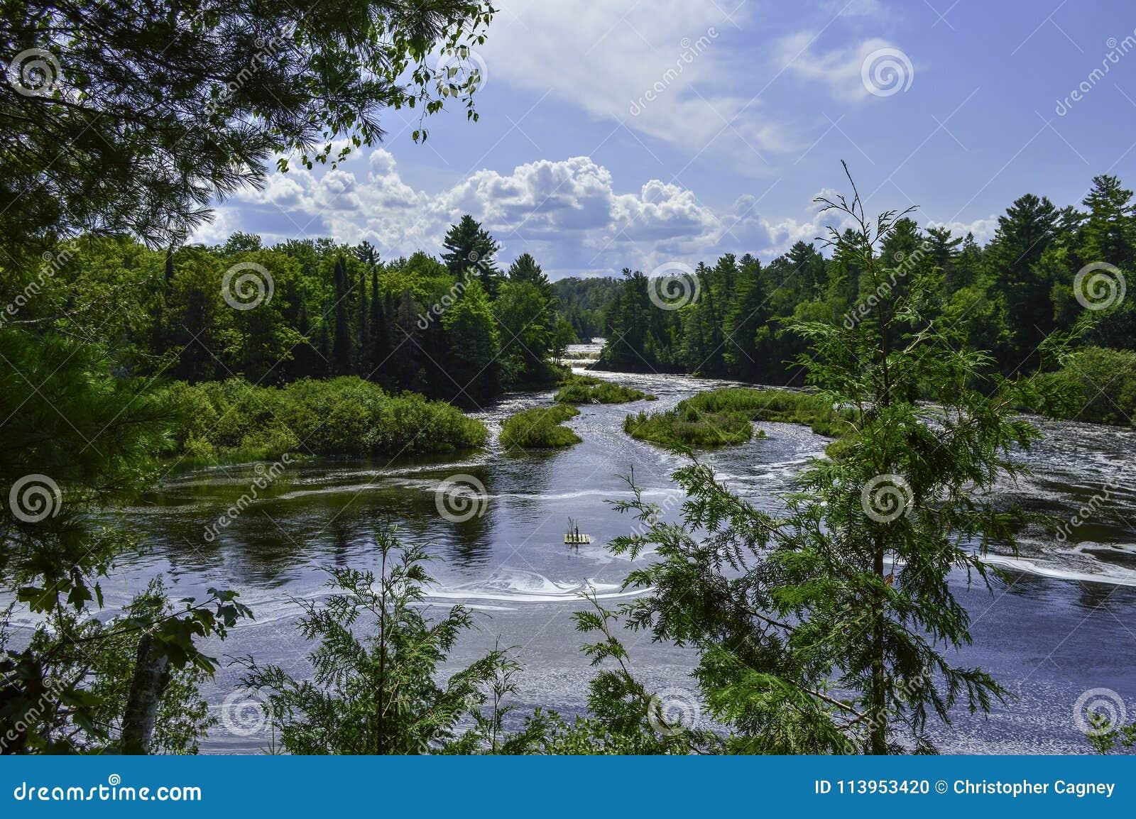 Vue profonde à la rivière