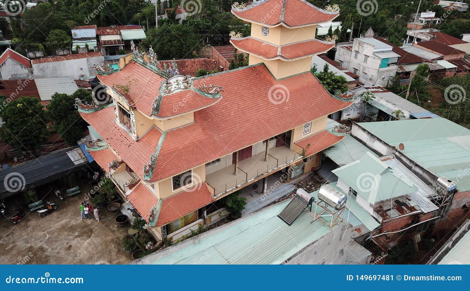 Vue a?rienne de Khanh Tan Pagoda