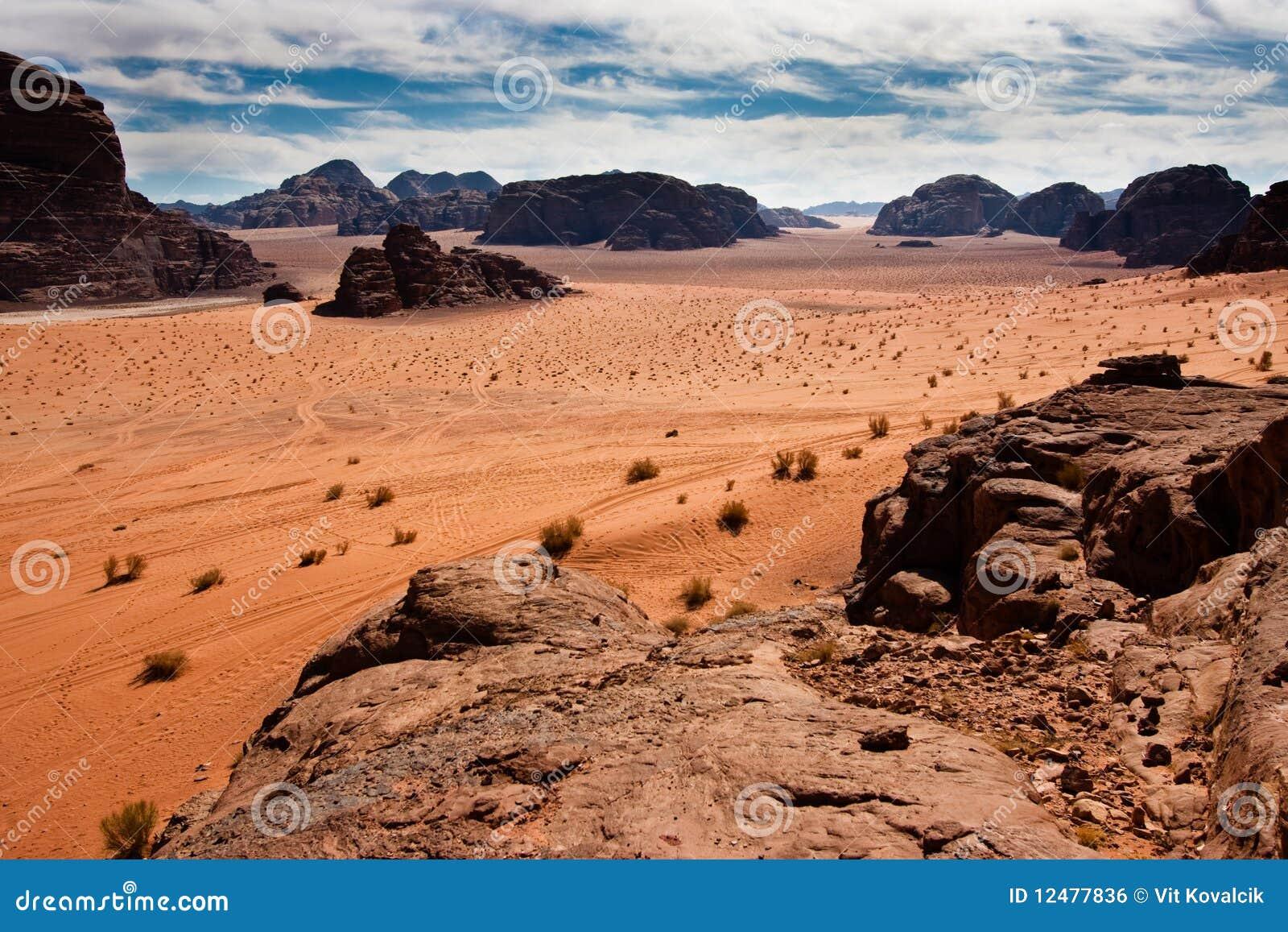 Vue scénique de désert de rhum de Wadi,
