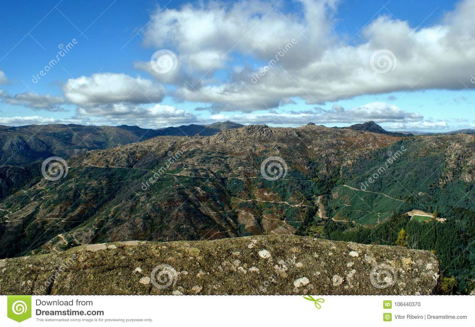 Vue scénique de parc national de Peneda Geres