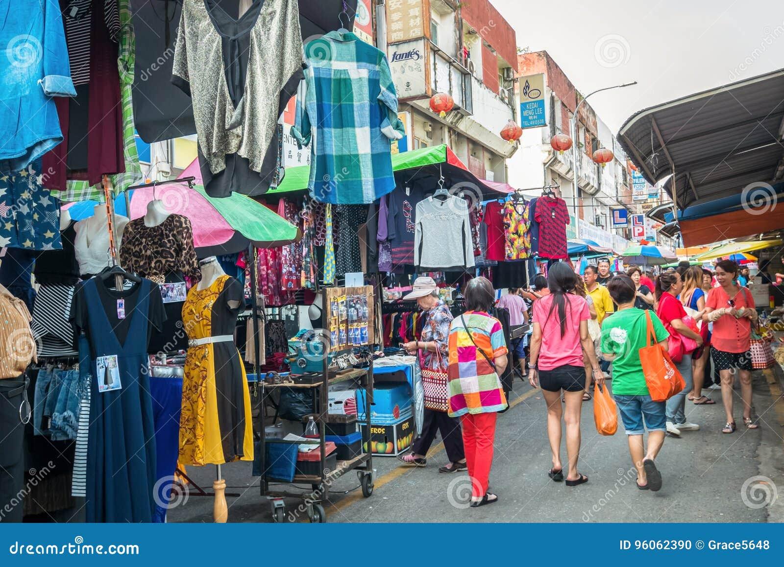 Vue scénique du marché de matin dans Ampang, Malaisie