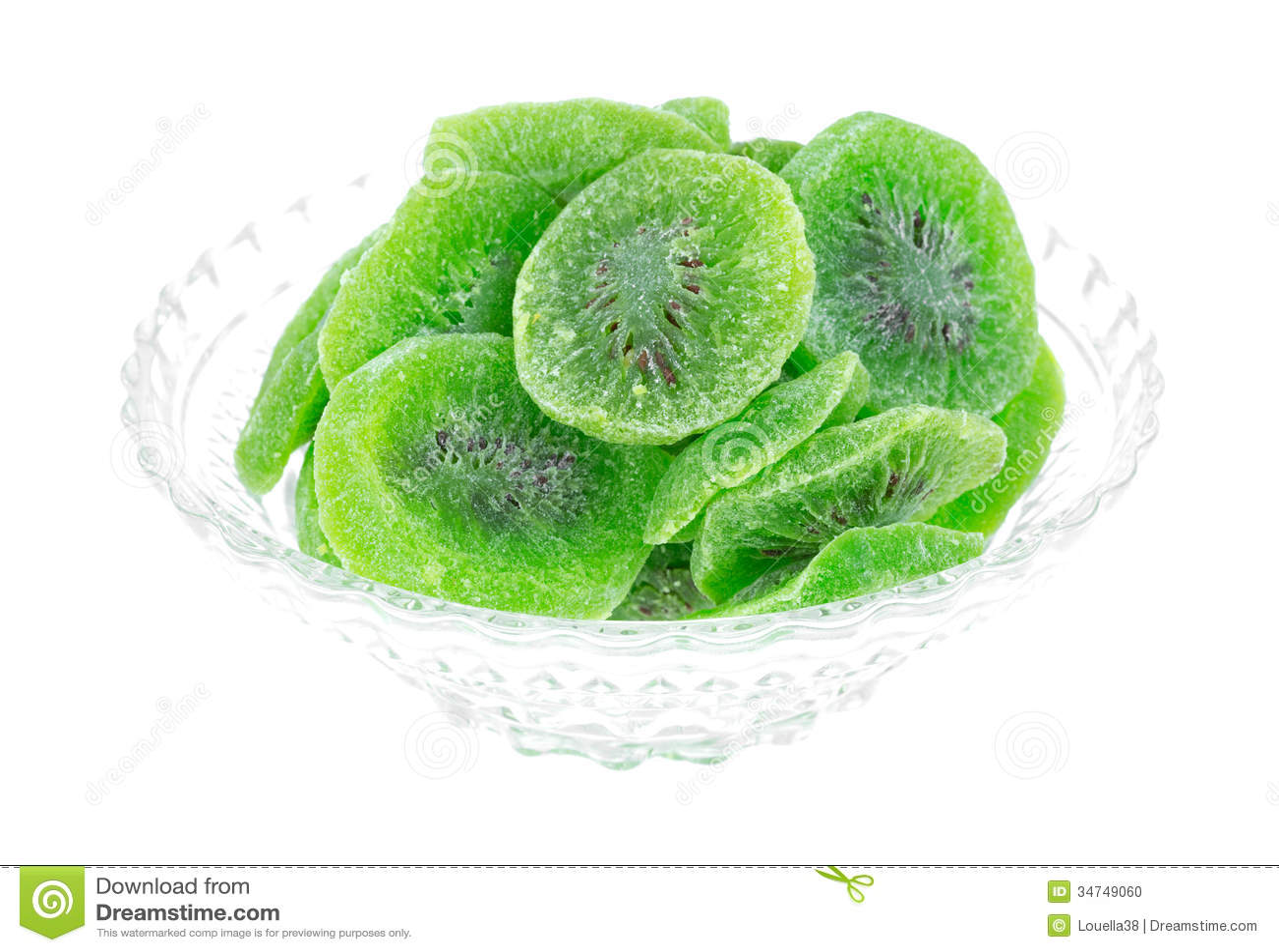 Vue sèche de Kiwi Fruit In Bowl Side