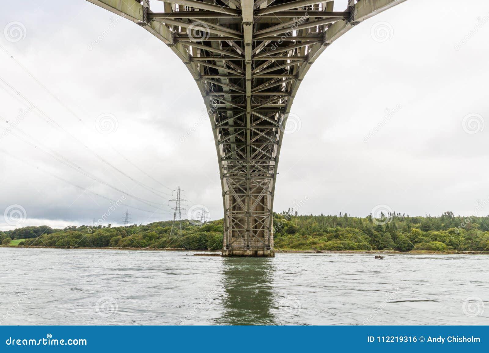 Vue sous le pont de Britannia de dessous