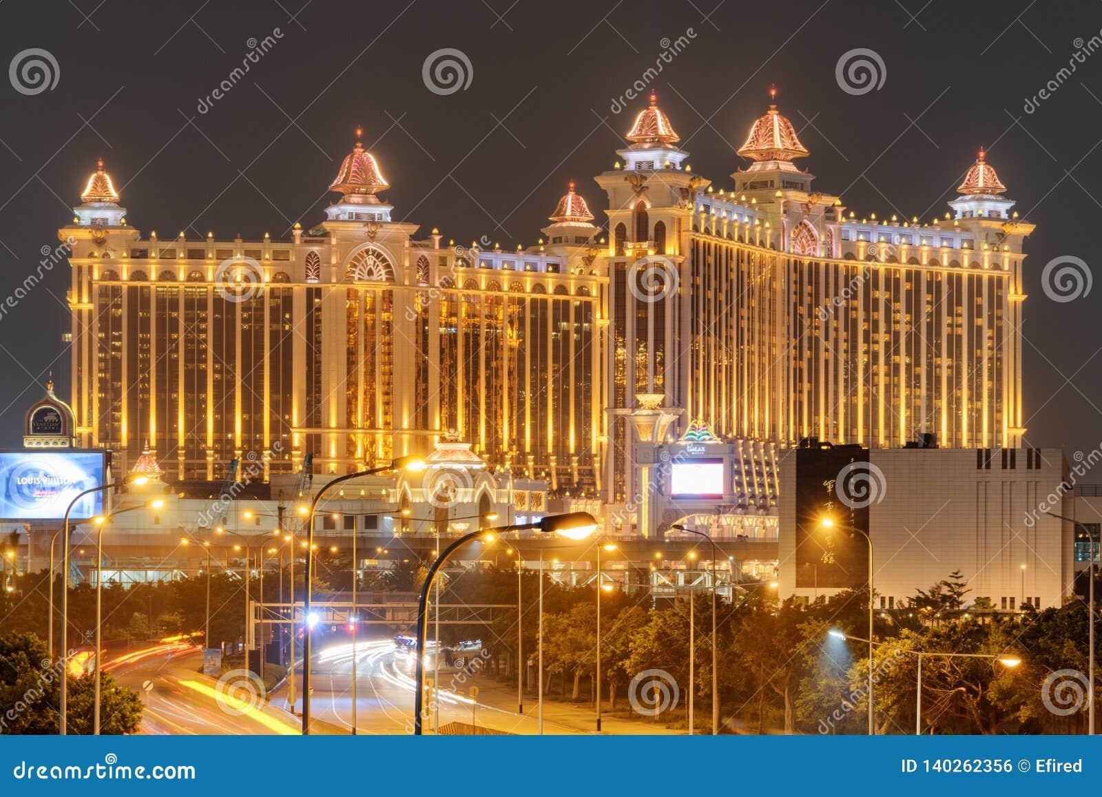 Vue stupéfiante de nuit de galaxie Macao dans Cotai Station de vacances de casino