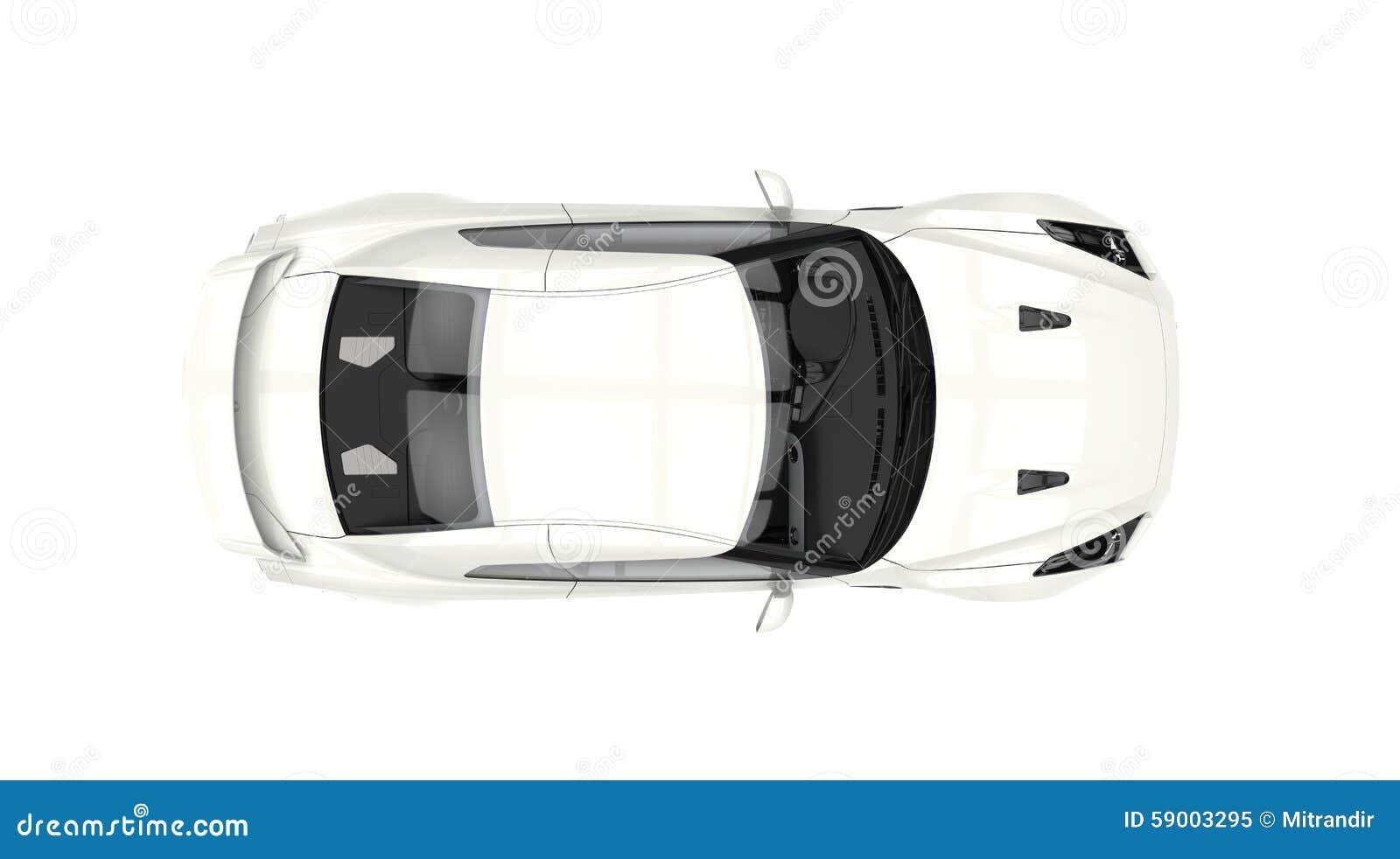 Vue supérieure automobile de sports