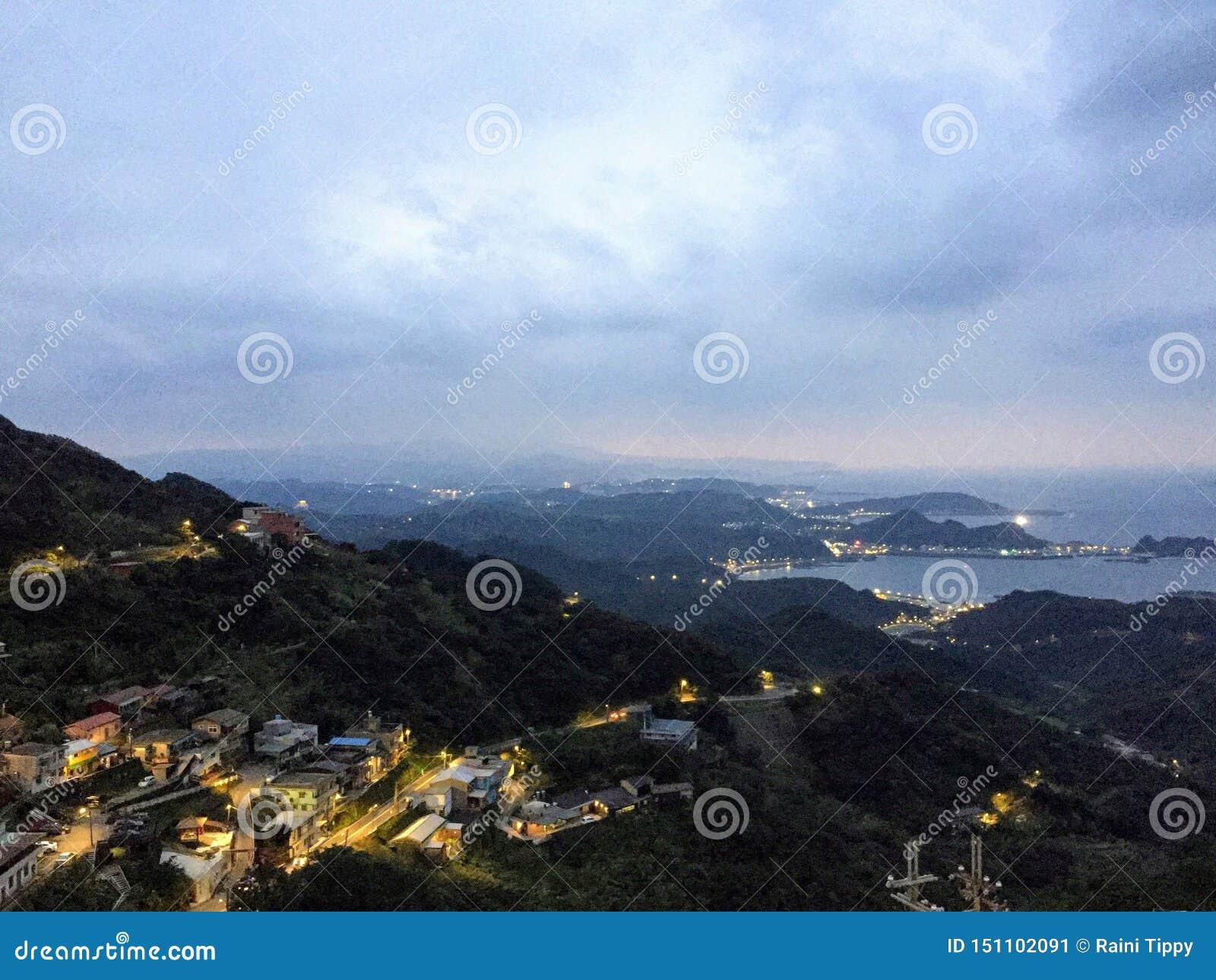 Vue supérieure de Jioufen
