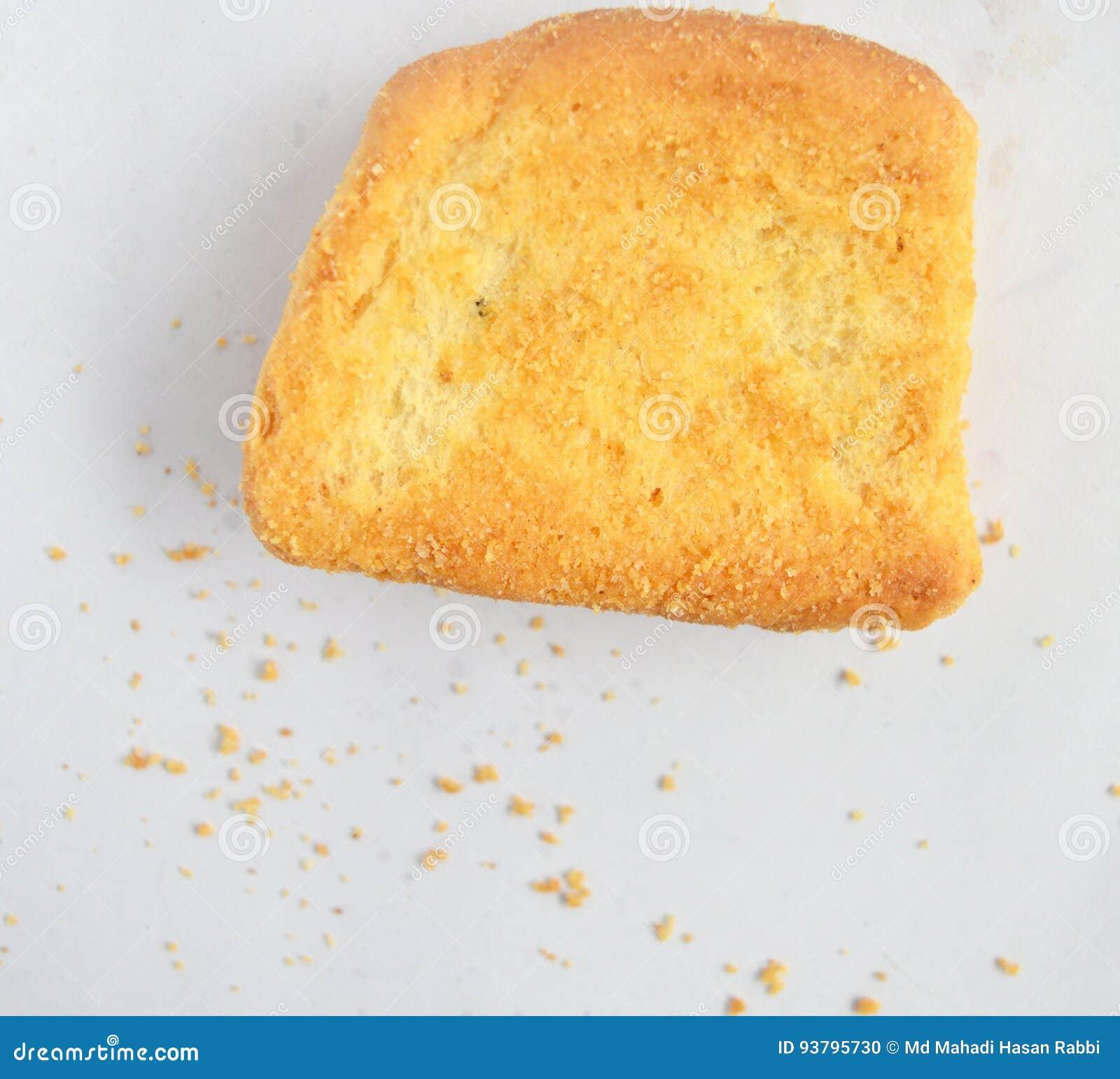 Vue supérieure de pain grillé