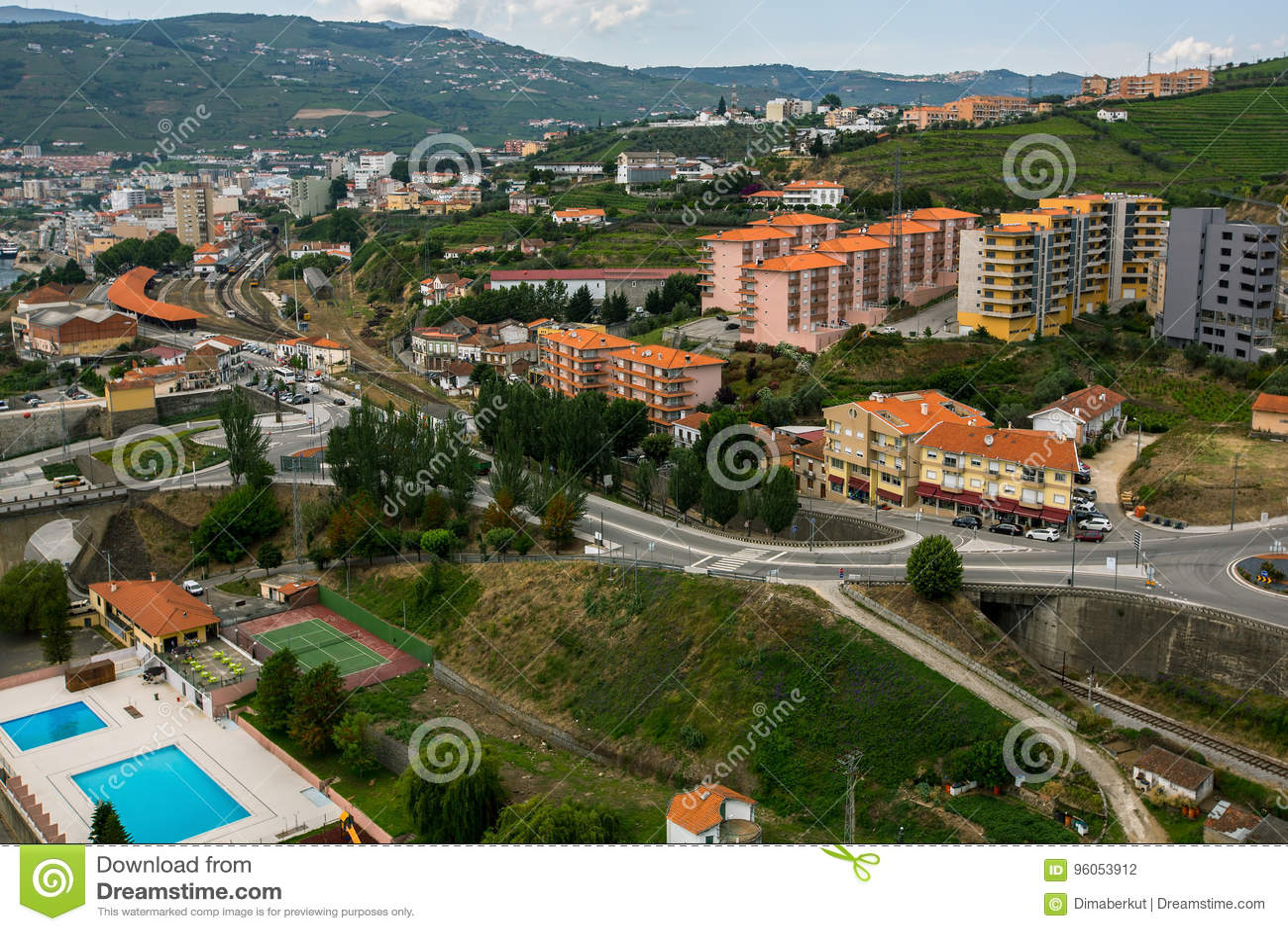 Vue supérieure de ville du DA Regua de peso, Portugal