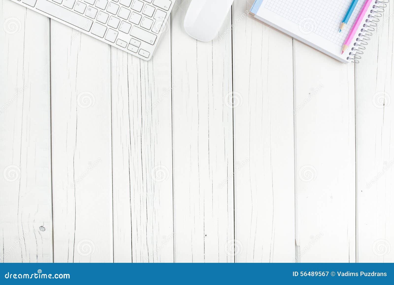 Vue supérieure sur le bureau
