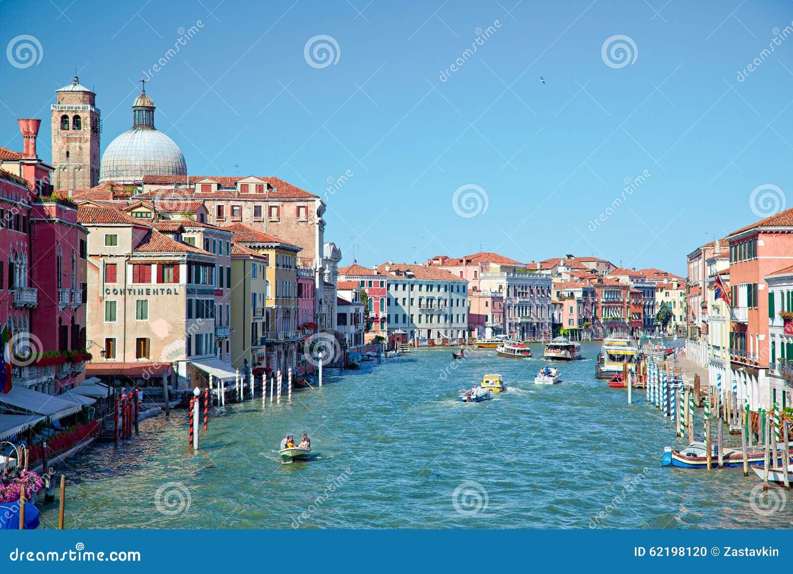Vue sur Grand Canal de degli Scalzi de Ponte à Venise, Italie