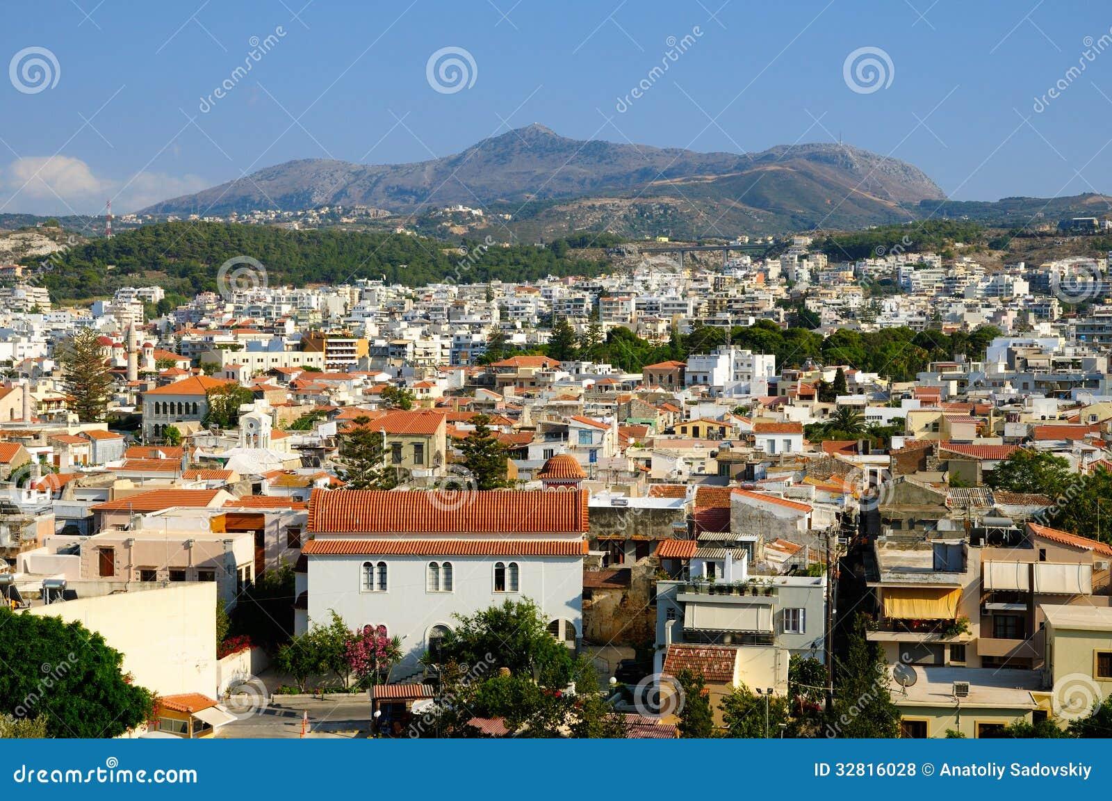 Vue sur la ville de Rethymno